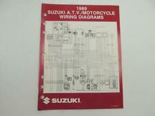 Vintage 1989 Suzuki Atv Motorcycle Wiring Diagrams Manual Rmx250K Lt80K B7724