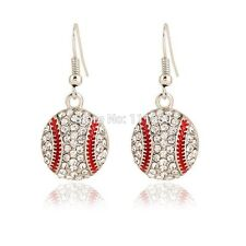 Crystal Baseball Hook Earrings MLB Sports Baseball Mom Rhinestone FAST SHIP USA