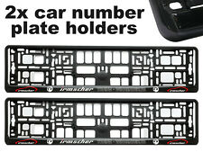 2x Doming CAR Number Plate Surround Holder Frames BEST FIT IRMSCHER for VAUXHALL
