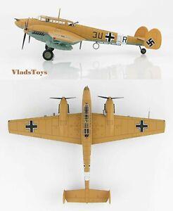 Hobby Master 1:72 Messerschmitt Bf 110E Luftwaffe 7./ZG 26 3U+OR Libya 42 HA1815