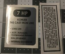 Kohler Engine 7-hp Wheel Horse, Arctic Cat, K161 black and silver set 2