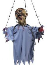 120cm da Parete Zombie Prop con Spinato Filo Decorazioni Halloween Testa & Torso