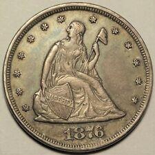 1876 Twenty Cent Piece Almost Uncirculated AU Better Centennial Date 20c Coin
