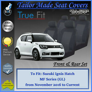 Tailor Made Seat Covers for Suzuki Ignis MF GL 4-Door Hatch: 11/2016 to Current