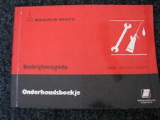 Magirus-Deutz Bedrijfswagens Onderhoudsboekje (Nederlands) 1980