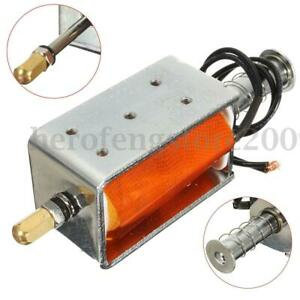 DC 12V 35mm Small Electromagnetic Electric Magnet Long-Stroke Push-Pull Solenoid