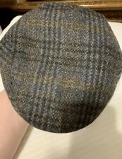 Failsworth Harris Tweed Stornoway Flat Cap Scottish Wool Hat 7 3/4 63cm Large