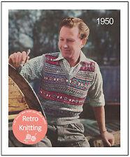 1950s Men's Fair Isle Pullover Knitting Pattern - Copy
