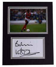 Viv Anderson Signed Autograph 10x8 photo display Arsenal Football AFTAL & COA