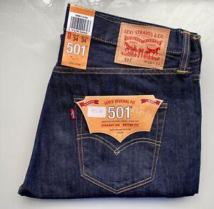 *NEW VINTAGE* LEVI's Original Fit Jeans 501, 00501-0162, W34 L34, marlon rinsed