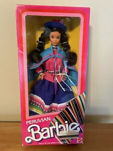 1985 Peruvian Barbie Dolls Of The World Collection New In Box