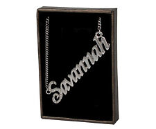 "Name Necklace ""SAVANNAH""–18K Gold Plated 