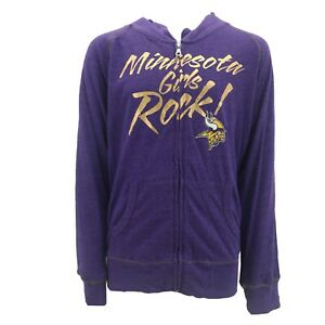 Minnesota Vikings Official NFL Youth Girls Size Full Zip Hooded Sweatshirt New