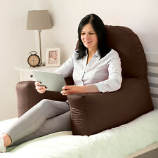 Brown Cotton Chloe Bed Reading Pillow Bean Bag Cushion Arm Backrest Back Support