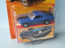 MATCHBOX superveloce 1970 Ford Mustang Boss 302 BLU CORPO toy model car