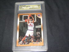 VINCE CARTER 1998 TOPPS ROOKIE GENUINE AUTHENTIC BASKETBALL CARD GRADED 9 MINT