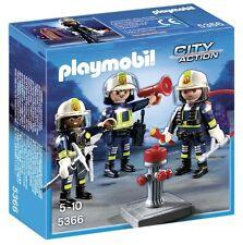 Playmobil City Action 5366- Equipo de 3 bomberos. De 5 a 10 años