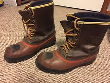 Vintage SOREL Matheson Leather STEEL TOE Boots Felt lined SIZE 9 Made in Canada