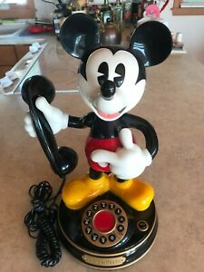VINTAGE 1997 Mickey Mouse Animated Talking Telephone Telemania Disney With Box!