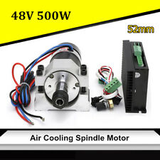 500W DC Brushless Spindle Motor+Clamp +Speed Controller for Engraving  US ! ^Y)