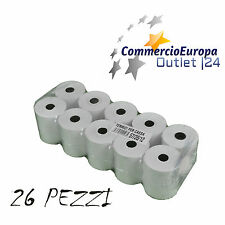 26 PEZZI ROTOLI CARTA TERMICA PER SCONTRINO CARTA REGISTRATORE CASSA 57x35x12