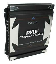 New Pyle Pla2200 2 Channel 1400W Car Amplifier Power Audio Amp Stereo Mosfet