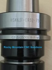NEW HSK63F ER32-75 Tool Holder 25,000 RPM !! Cheapest USA Supplier NEW