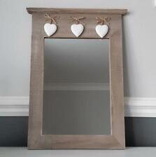 Ashleigh Farmhouse Mirror With White Hearts