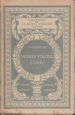 (Guicciardini) Ricordi politici e civili 1921 Classici Italiani 31  UTET