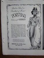 1939 Vintage Wolfe & Long Inc FORTUNA Featherweight Women's Girdle Ad