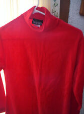 American Girl Dress Red Size Large Long Sleeves Velvet Look  New No Tag