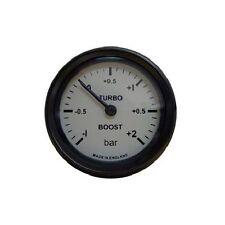 Calibrador de presión de Turbo Boost Mocal mecánico -1 a 2 Bar gama - esfera blanca
