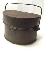More details for world war 1 1918 british d type mess tin and lid, antique in good condition