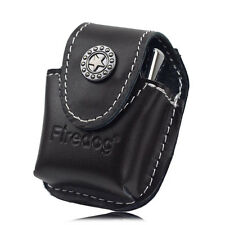 Firedog Genuine Leather Lighter Pouch Holder Case with Metal Belt Clip Lighter