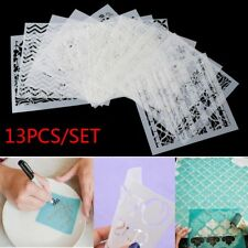 13pcs Layering Stencils for Walls Painting Scrapbooking Stamp Paper Cards DIY