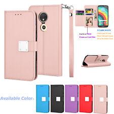 For Motorola Moto E5 Play/Cruise/GO Leather Wallet Flip Card Holder Case Cover