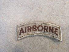 Military Patch US Army AIRBORNE Tab DCU Desert RARE Authentic