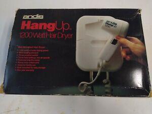 Vintage Andis HangUp 1200 watt Hair Dryer Wall Mounted 3 speed