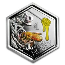 New Zealand -2018 - 1 OZ Silver Proof Coin-  Manuka Honey Bee