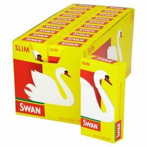 SWAN SLIM PRE CUT CIGARETTE FILTER TIPS PACK OF   20 x 102 Box cheapest