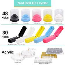 Pana High Quality Plastic Nail Carbide Drill Bits Holder Stand Display Organizer