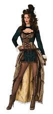 Steampunk Madame Sexy Para mujeres Vestido Elaborado Disfraz Talla Única