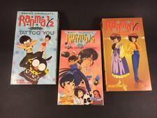 Lot of 3 Ranma 1/2 TV Anime English Subtitled VHS Rumiko Takahashi Japanese