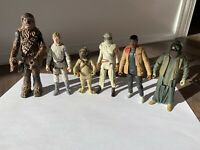 STAR WARS LUKE SKYWALKER FINN CHEWBACCA REY LOOSE FIGURE LOT X6 KENNER HASBRO