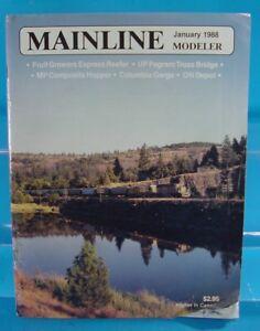 MAINLINE MODELER MAGAZINE JANUARY 1988 FGE REEFER,UP & C&O BRIDGE COLUMBIA GORGE
