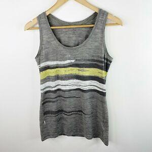 Icebreaker Merino Womens Size Large  Gray Sleeveless Tank Top Shirt Wool