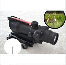 New 4x32 Real red fibre optic illuminated scope 4x Power crosshair