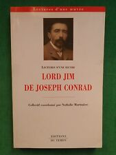 LORD JIM DE JOSEPH CONRAD LECTURE D'UNE OEUVRE DIR NATHALIE MARTINIERE