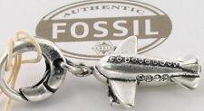 Fossil Charms Jf87699 Charm Edelstahl Anhänger Flugzeug Charmanhänger