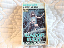 GATOR BAIT VHS CLAUDIA JENNINGS ACTION CAJUN REDNECK SWAMP PEOPLE FEMALE NUDITY